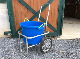 Picture of the muck bucket cart